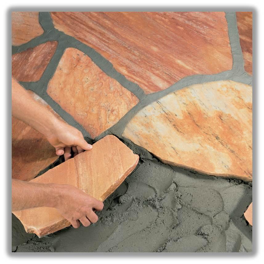 Как положить природный камень своими руками 35